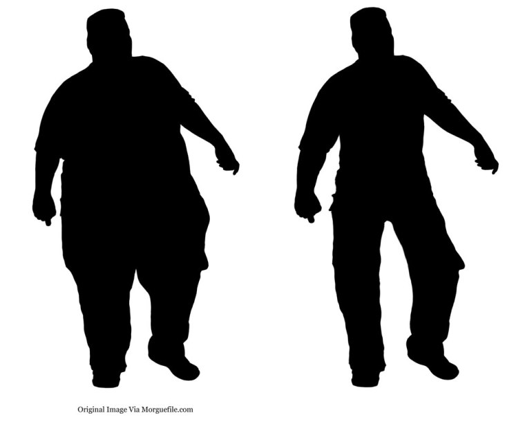 OBESE-MALE-WALKING-SILHOUETTE